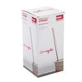 "10.25"" Jumbo Straw, White With Red Swirl Stripe, Paper Wrapped, Inner Package"
