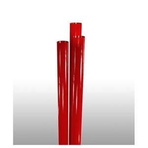 "24"" Jumbo Red Straw, Unwrapped, Zoomed In"