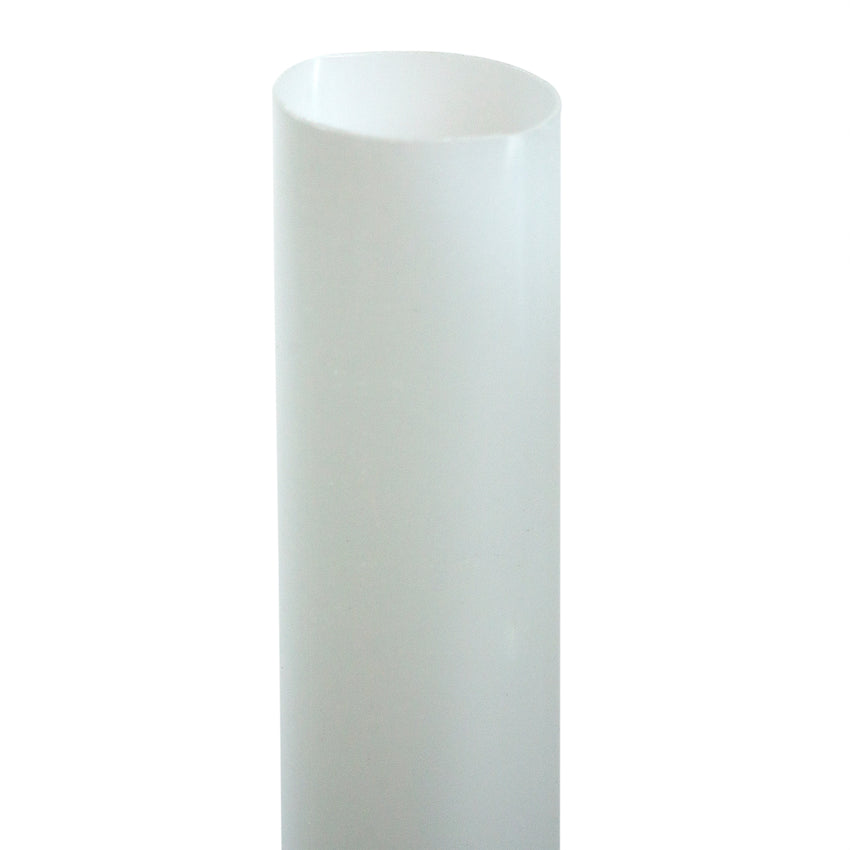 "7.75"" JUMBO UNWRAPPED CLEAR PLA STRAW, Upright Detailed View"