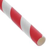 "RED STRIPE 7.75"" JUMBO UNWRAPPED PAPER STRAW, Detailed View"