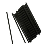 "7.75"" Giant Black Straw, Unwrapped, Group Image"