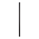 "7.75"" Giant Black Straw, Paper Wrapped, View Of Unwrapped Straw"