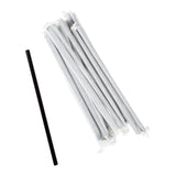 "7.75"" Giant Black Straw, Paper Wrapped, Group Image"