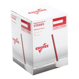 "7.75"" Giant Red Straw, Poly Wrapped, Inner Package"