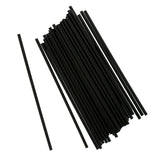 "5"" Black Stirrer Straw, Unwrapped, Group Image"