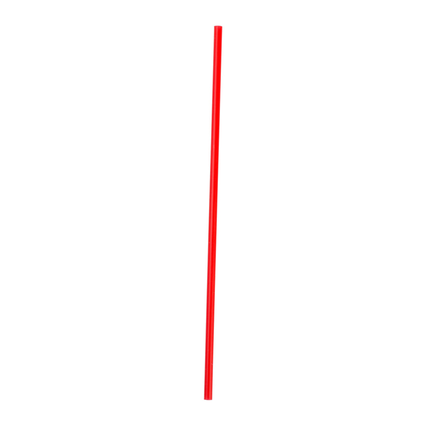 "7"" Red Stirrer Straw, Poly Wrapped"