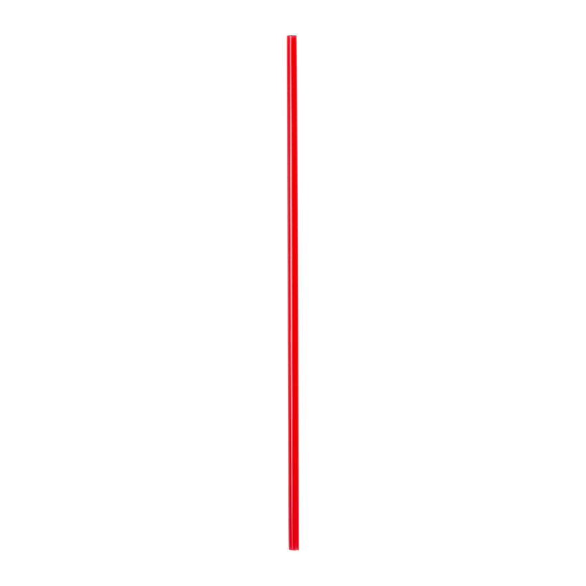 "7"" Red Stirrer Straw, Unwrapped"