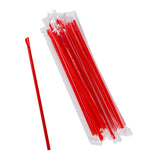 "10"" Giant Red Spoon Straws, Poly Wrapped, Group Image"
