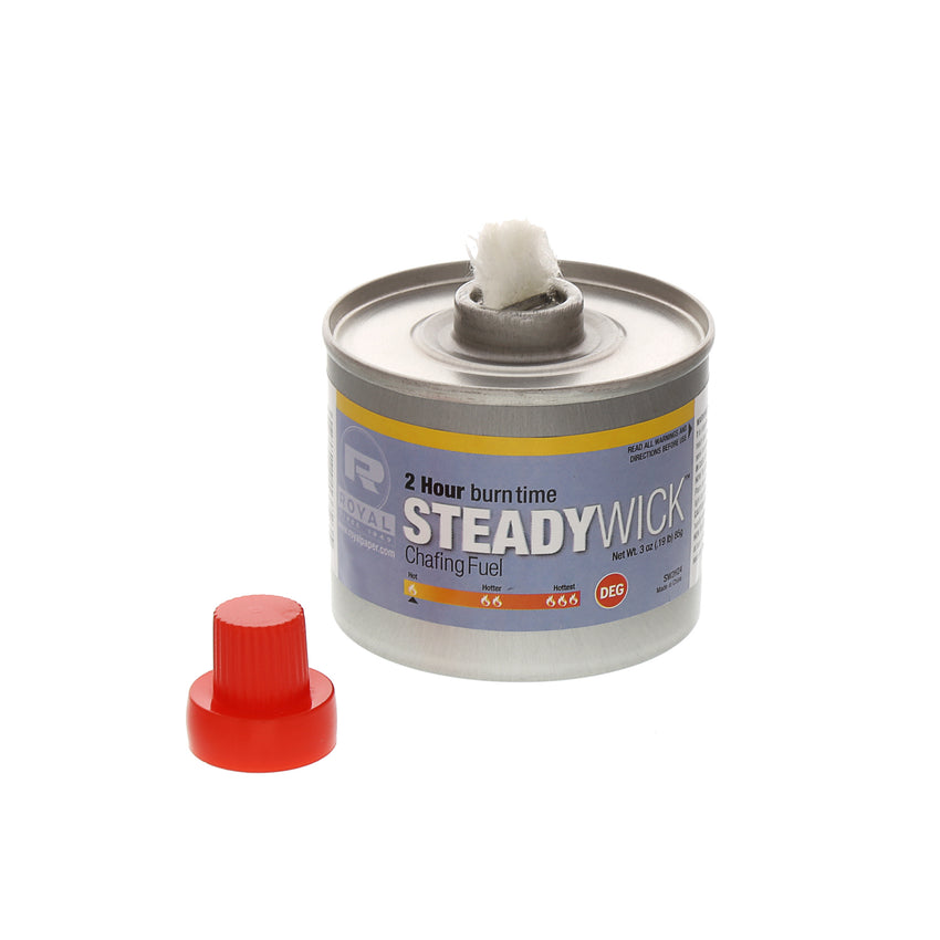 2 HR STEADY WICK CHAFING FUEL, Chafing Fuel With Cap Off