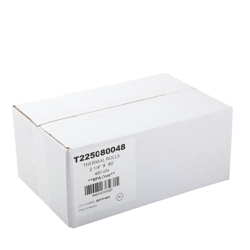 "Thermal Rolls, 2-1/4"" x 80' with 7/16"" ID Core, Closed Case"