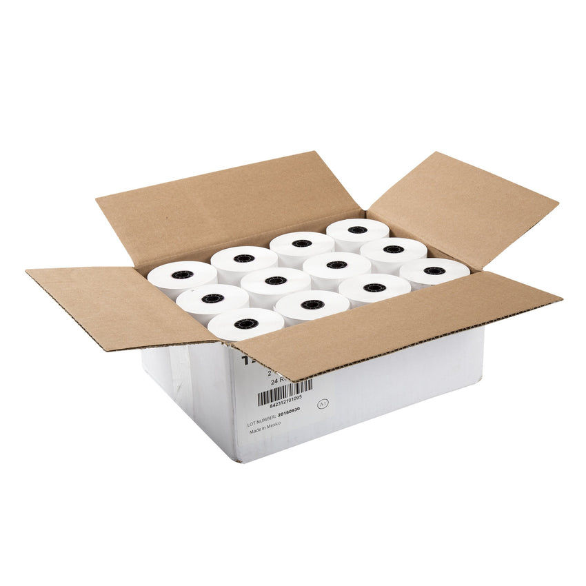 "Thermal Rolls, 2-1/4"" x 200' with 7/16"" ID Core, Open Case"