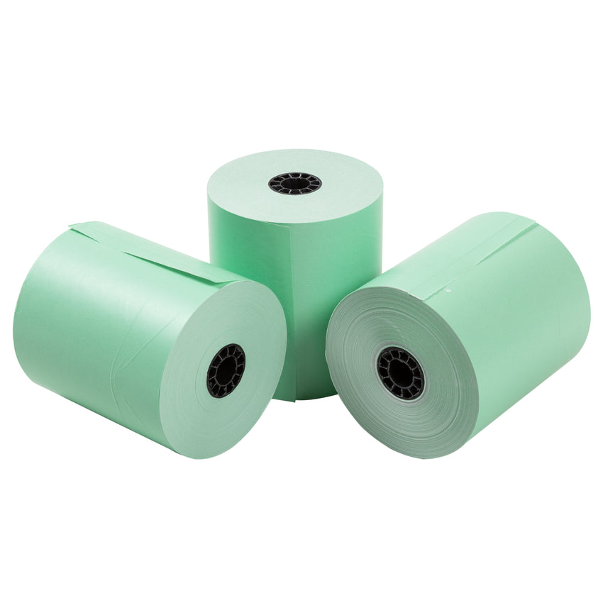 "Green Thermal Rolls, 3-1/8"" x 230' with 7/16"" ID Core, Three Rolls"