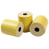 "Yellow Thermal Rolls, 3-1/8"" x 230' with 7/16"" ID Core, Three Rolls"