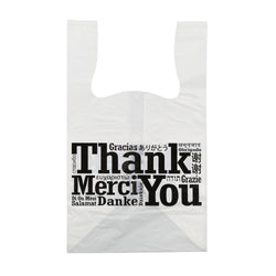 FLAT BOTTOM MULTILINGUAL T-SHIRT BAG 11.5