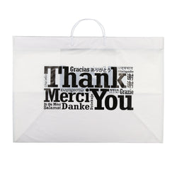 RIGID HANDLED MULTILINGUAL SHOPPING BAG 22