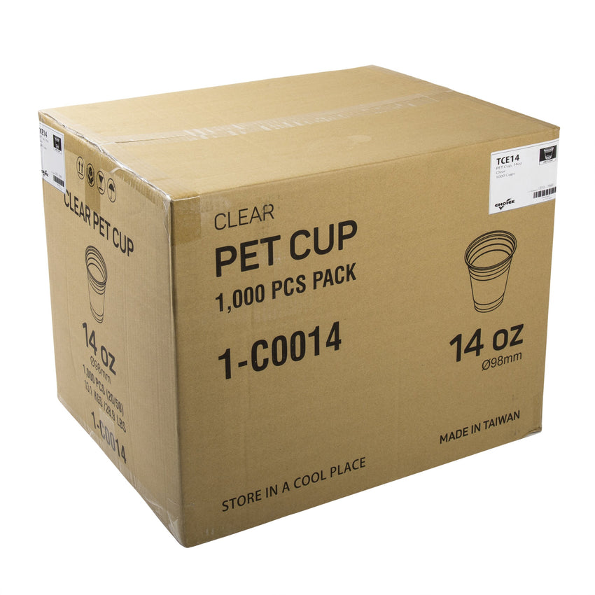 14 oz. Clear PET Cup, Closed Case