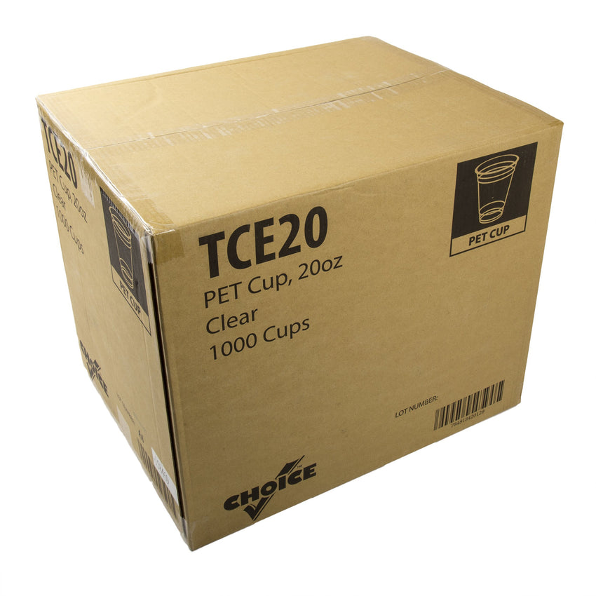20 oz. Clear PET Cup, Closed Case