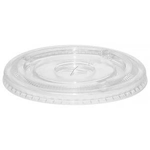 PET Lid With Straw Slot