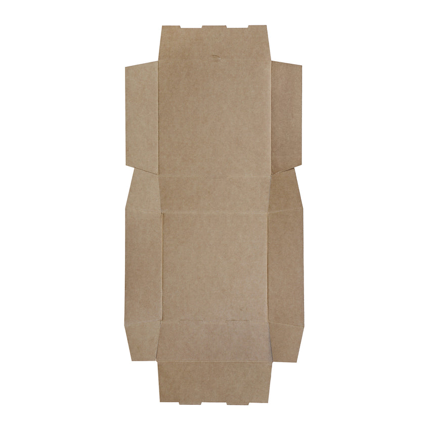 Medium White Corrugated Take Out Box, Flat Out