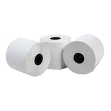 "POS Tray, 2.25"" x 130' 1 Ply Thermal Register Rolls, Photo of Three Rolls"
