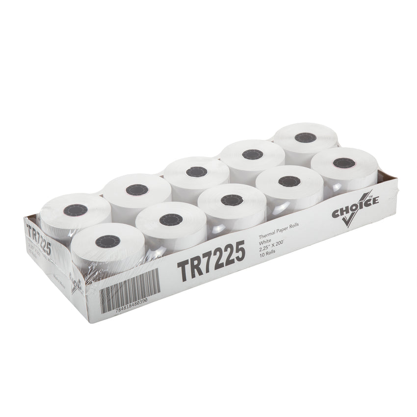 "POS Tray, 2.25"" x 130' 1 Ply Thermal Register Rolls, Inner Package"