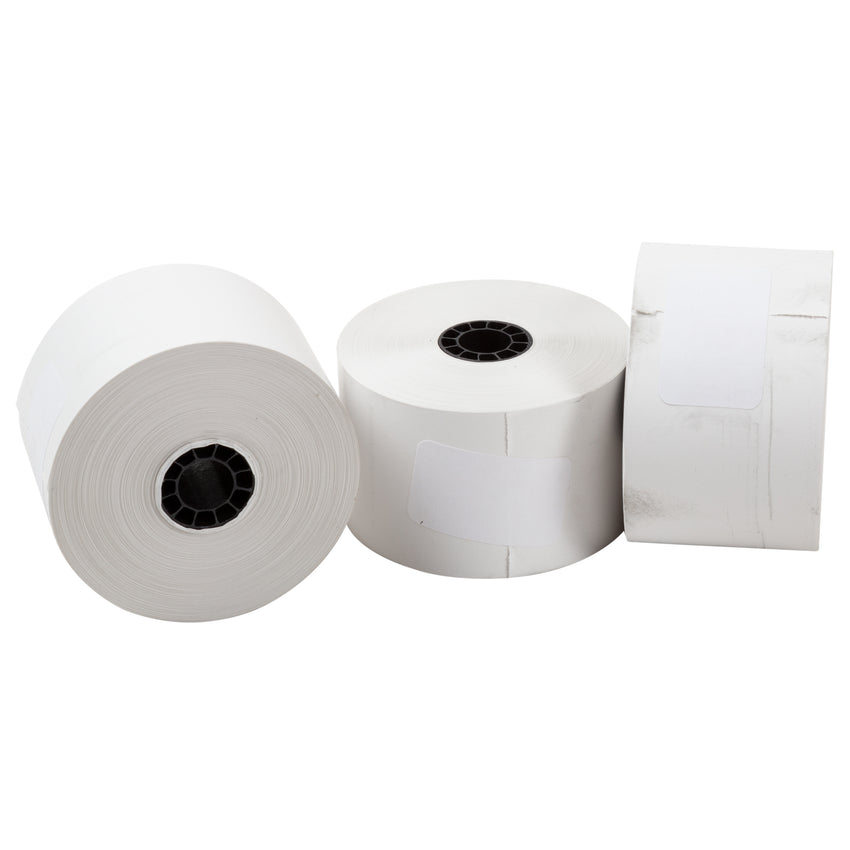 POS Tray, 44mm x 230' 1 Ply Thermal Register Rolls, Photo of Three Rolls