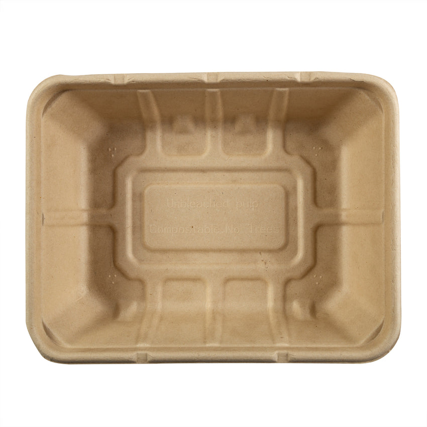 "Shallow Tan Tubs 7"" x 9"" x 2.25"", Overhead View"