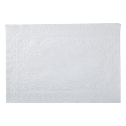 WHITE PLACEMAT DECORATIVE EMBOSSING