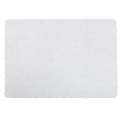 EMBOSSED PLACEMAT STIRLING WHITE 9.5
