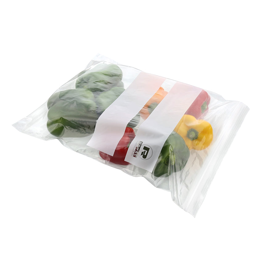 "TWO GALLON DOUBLE ZIPPER BAG 13"" X 15.63"", Bag With Food Content"