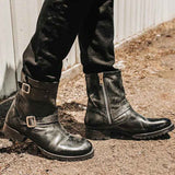 New Genuine Leather Zipper Boot - HiSheep