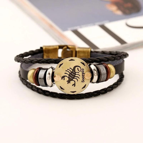 Scorpio Zodiac Sign Fashion Bracelet (Oct 23 - Nov 21) - HiSheep
