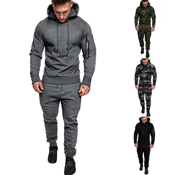 2020 Spring Men Hoody Sweatshirt Casual Sportswear Suit - HiSheep