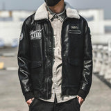 2019 Winter New Men's Casual Genuine Leather Pilot Jacket with Removable Fur Collar  Winter Warm Coat - HiSheep