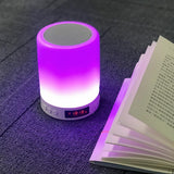 Dimmable Smart Touch Night Light with Bluetooth Speaker, Hands-free Music Player - HiSheep