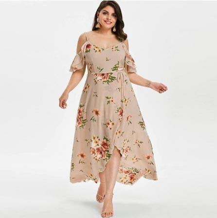 Floral Overlap Maxi Dress - Free shipping! - HiSheep