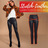 Stretch-Leather Warm Fleece Leggings - HiSheep