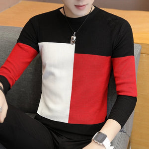 Fashion Slim Colorblock Warm Men's Sweater - HiSheep