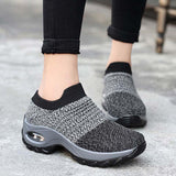 Women Fashion Outdoor Knit Sneakers Sports Running Shoes Free Shipping - HiSheep