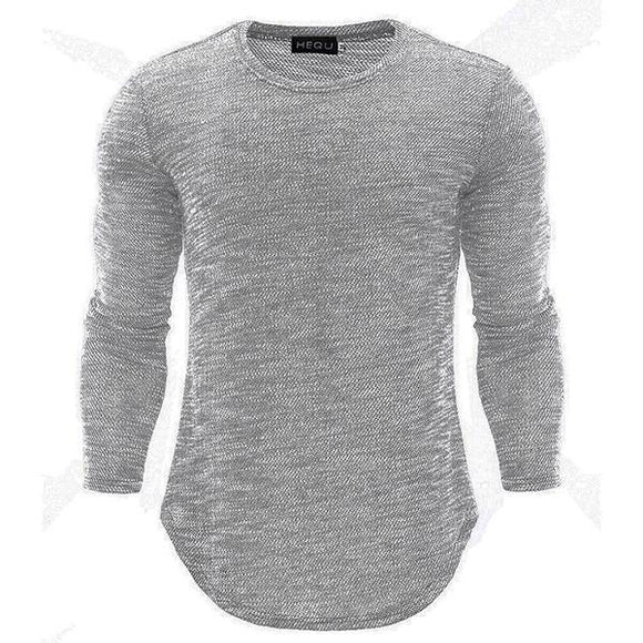 High Quality Casual Round Neck Long Sleeve T-Shirts - HiSheep