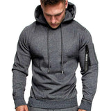Fashion Casual Long Sleeve Pullover Hooded Sweatshirt - free shipping - HiSheep