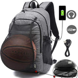 Sports Backpack W/Ball Net & USB Port - HiSheep