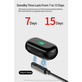 Smart Watch Built-in Wireless Bluetooth Earphones - free shipping! - HiSheep