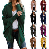 Spring Autumn Women's Batwing Sleeve Knitwear Cardigan Sweater Coat - HiSheep