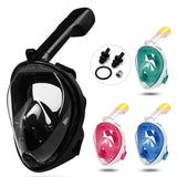 Full Face Snorkeling Mask Panoramic Design 180 Degree Large View Innovative - HiSheep