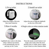 8-color toilet sensor light - Buy two free shipping! - HiSheep