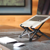 Height-adjustable laptop stand portable desktop stand - black - HiSheep
