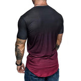 Men's Fashion Gradient Color Short-Sleeved T-Shirt - HiSheep