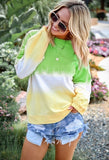 Autumn Women Gradient Color Printing O-neck Casual Blouses - HiSheep