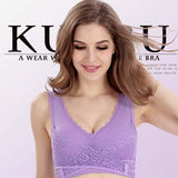 Wireless Front Cross Buckle Lace Lift Bra - Buy two free shipping! - HiSheep